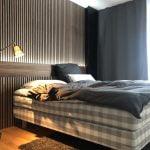 Headboard Walnut acoustic panels from WoodUpp