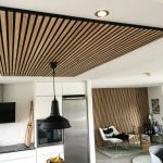 Slat ceiling from WoodUpp in Antique Oak