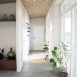 Classic Oak grey felt Akupanel on ceiling