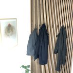 Jackets in hall WoodUpp sound dampening panels