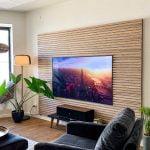 Classic Oak grey living room acoustical panels